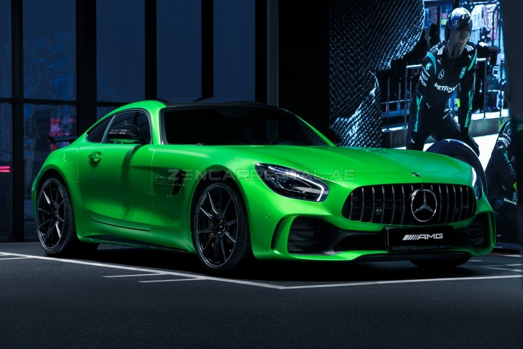 Zen Rent a Car - availability photo - green mercedes benz sports car - article